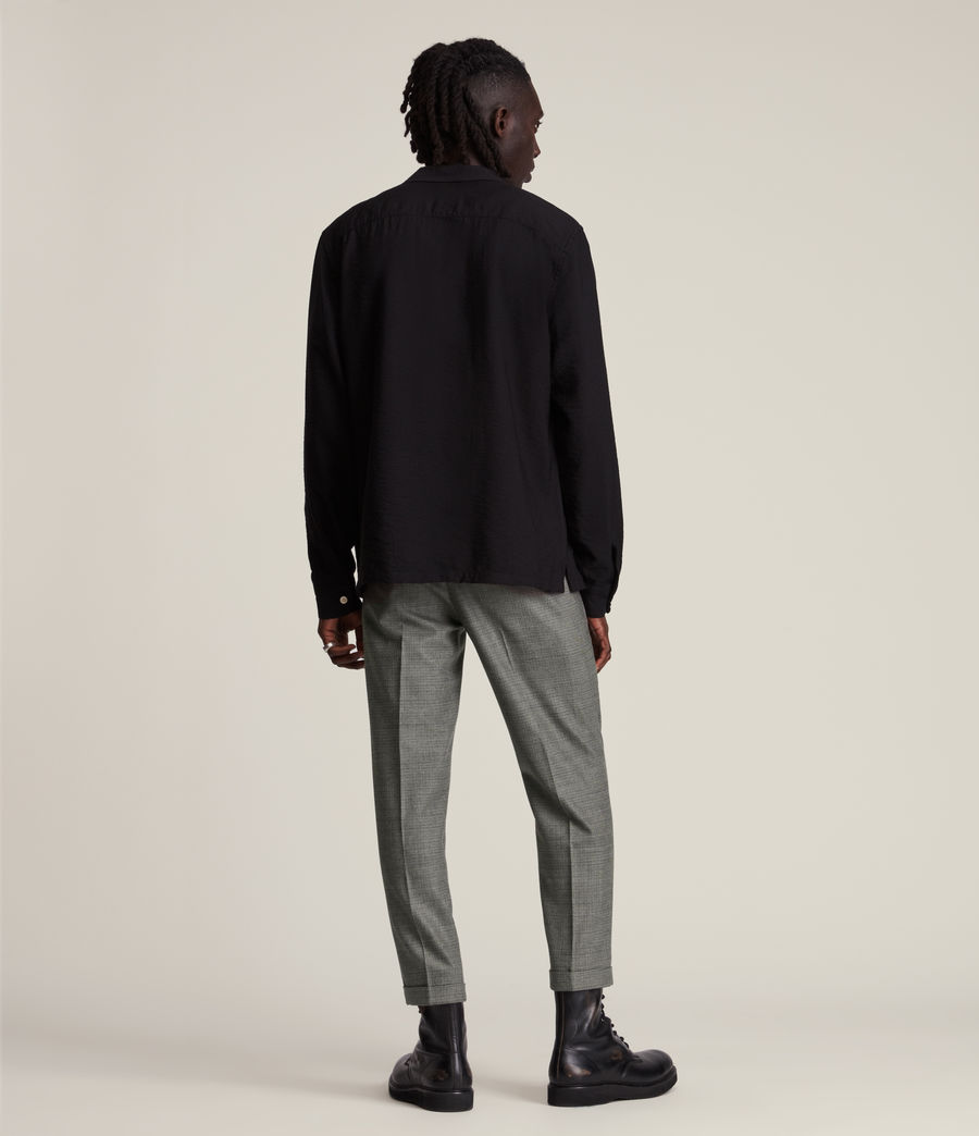 Men's Holt Cropped Slim Trousers (grey_brown) - Image 5