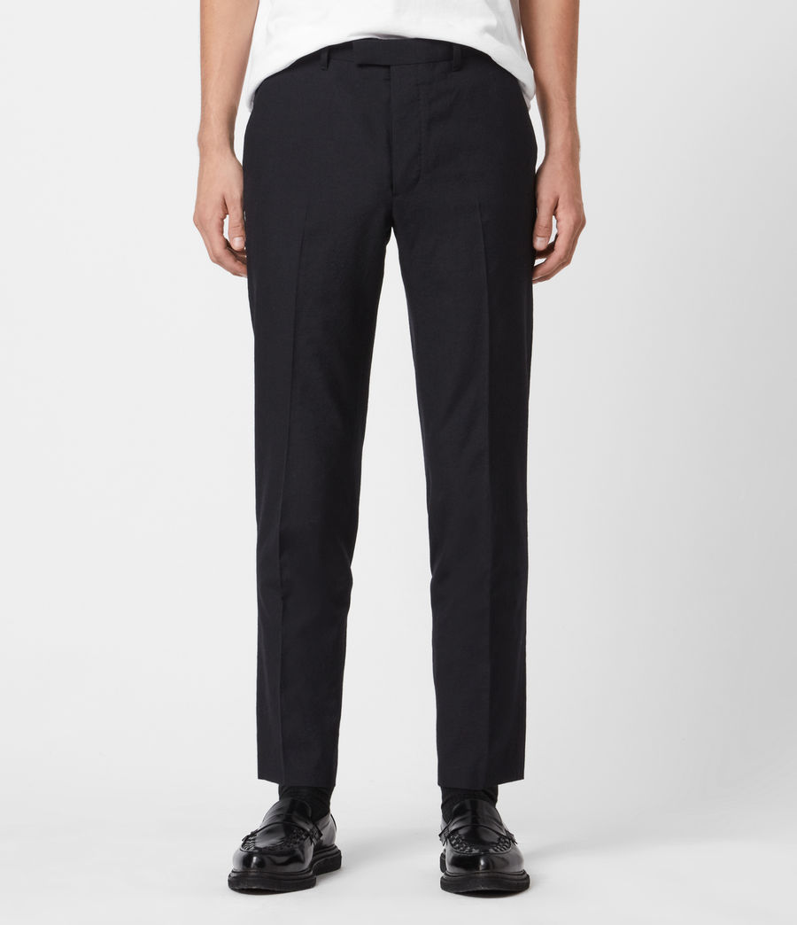 Men's Kennel Cropped Slim Trousers (midnight) - Image 1