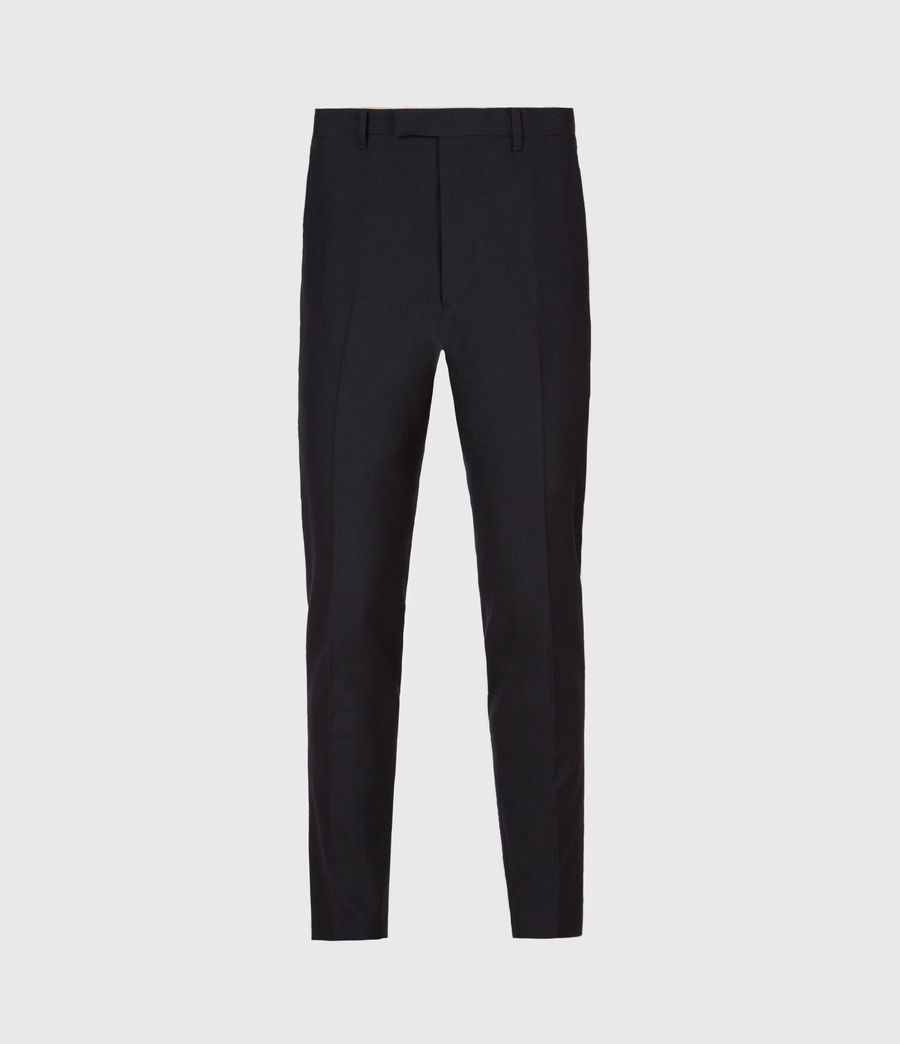 Men's Kennel Cropped Slim Trousers (midnight) - Image 2