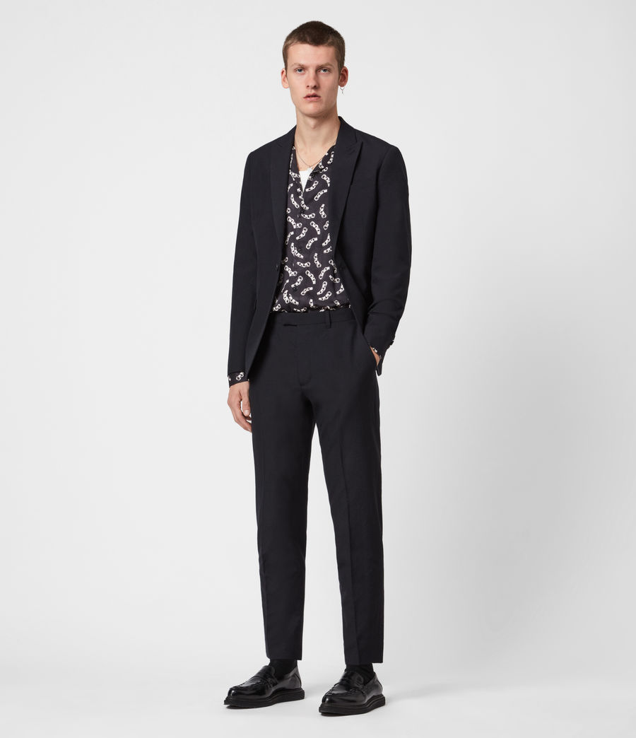 Men's Kennel Cropped Slim Trousers (midnight) - Image 4
