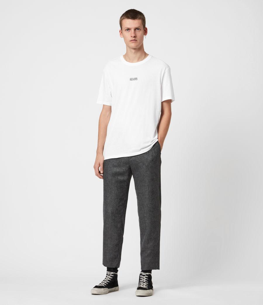 Men's Kite Cropped Slim Trousers (grey) - Image 4