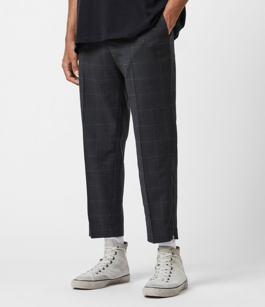 Hommes Pantalon Slim Raccourci Garth (charcoal) - Image 1