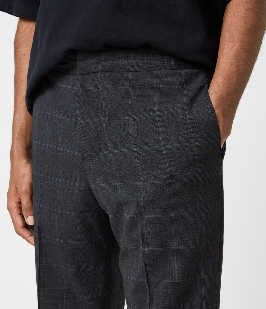 Hommes Pantalon Slim Raccourci Garth (charcoal) - Image 8
