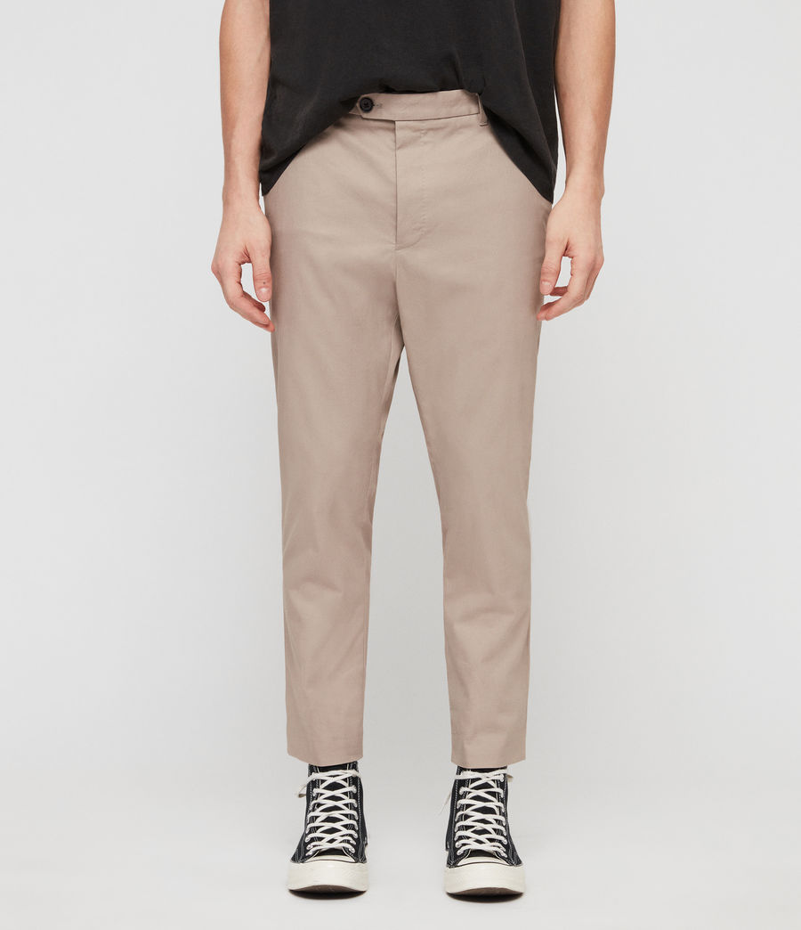 Mens Kato Cropped Slim Pants (sand) - Image 1