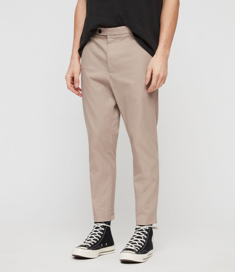 Mens Kato Cropped Slim Pants (sand) - Image 2