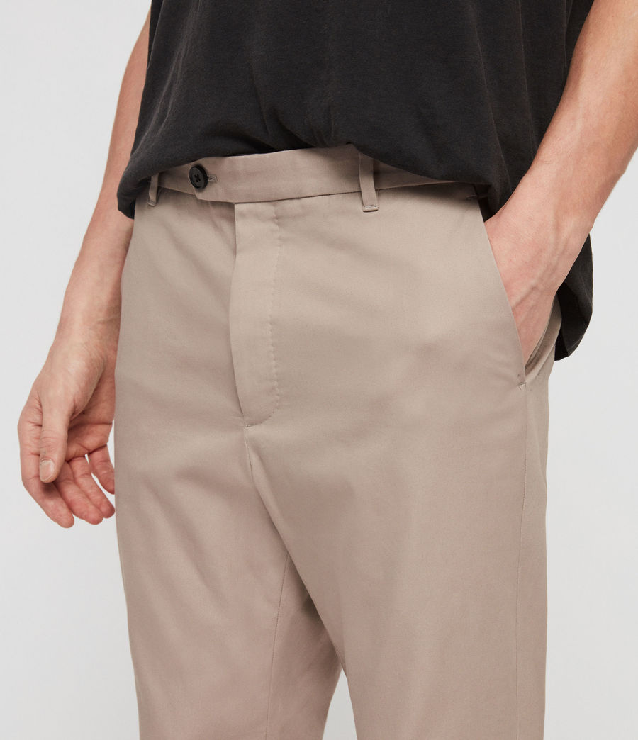 Mens Kato Cropped Slim Pants (sand) - Image 3