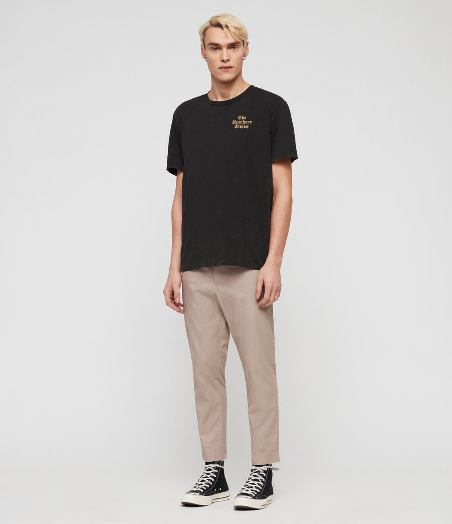 Mens Kato Cropped Slim Pants (sand) - Image 4