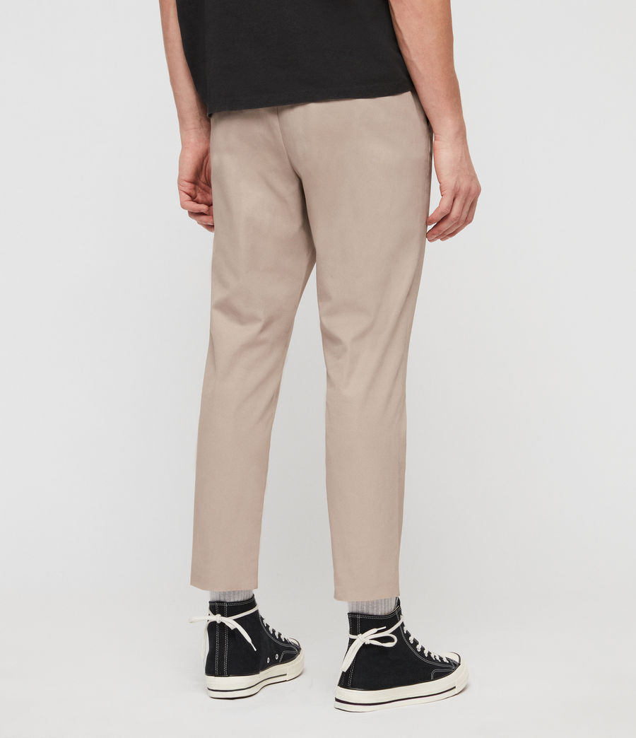 Mens Kato Cropped Slim Pants (sand) - Image 5