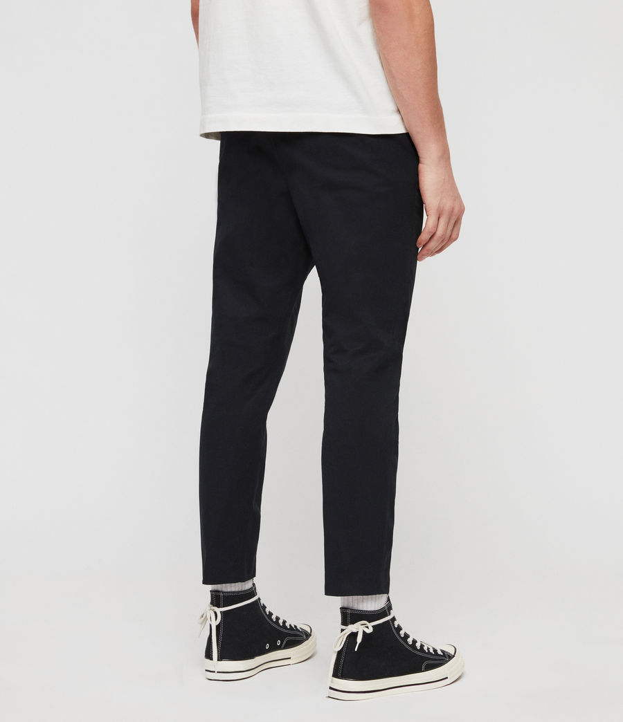 Men's Kato Cropped Slim Trousers (black) - Image 5