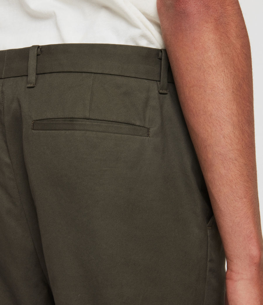 Men's Kato Cropped Slim Trousers (khaki_brown) - Image 2