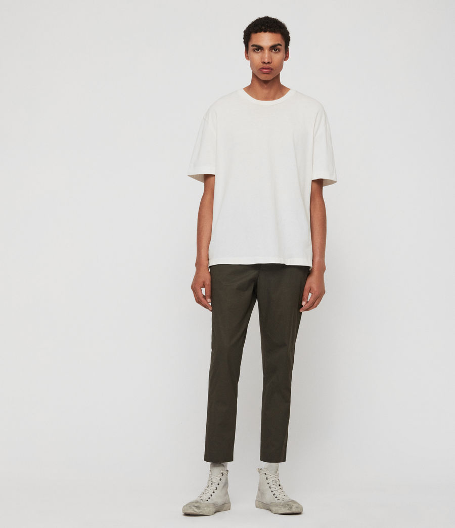 Men's Kato Cropped Slim Trousers (khaki_brown) - Image 3