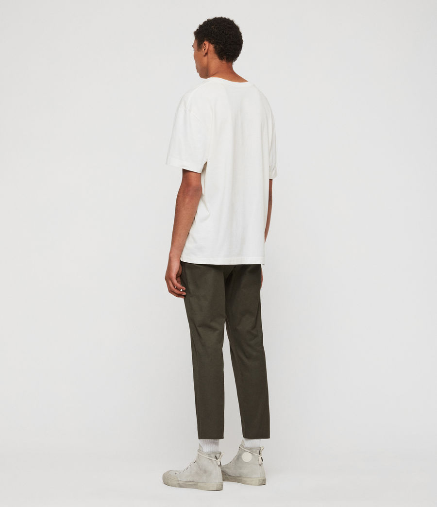 Men's Kato Cropped Slim Trousers (khaki_brown) - Image 5