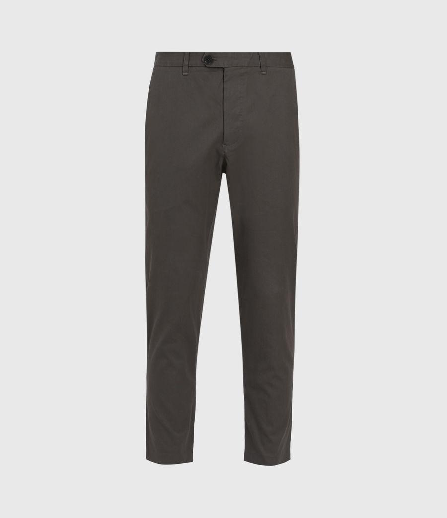 Men's Kato Cropped Slim Trousers (smoke_green) - Image 2