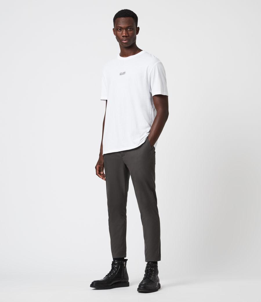 Men's Kato Cropped Slim Trousers (smoke_green) - Image 4