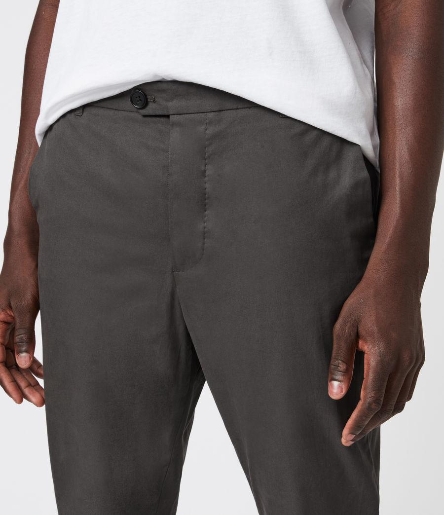 Men's Kato Cropped Slim Trousers (smoke_green) - Image 6