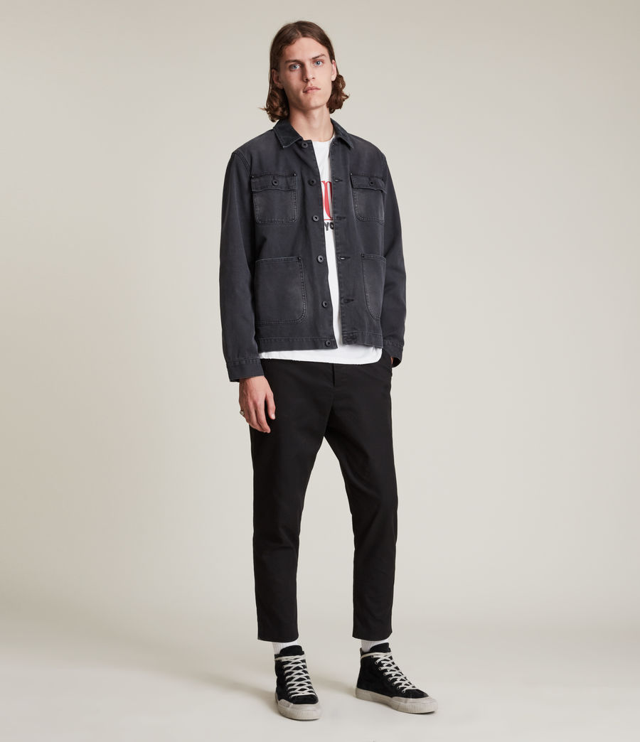 Mens Kato Cropped Slim Pants (black) - Image 1