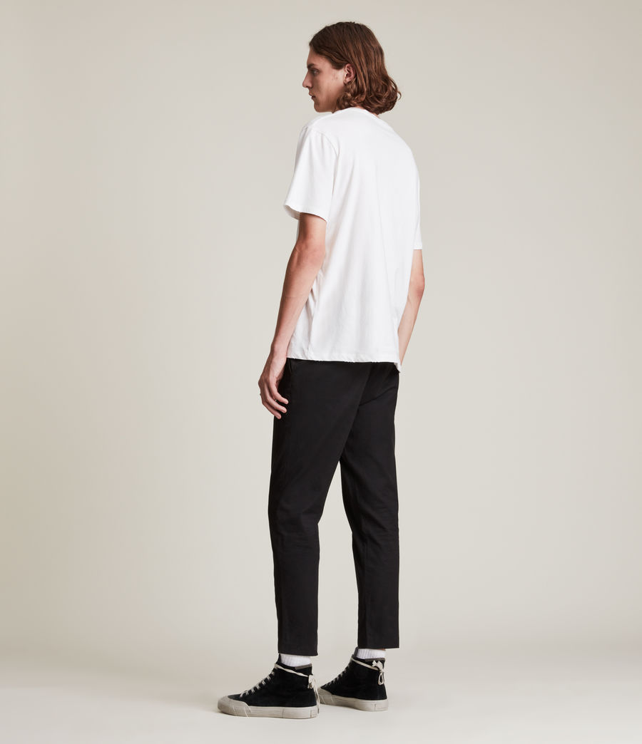 Men's Kato Cropped Slim Trousers (black) - Image 4