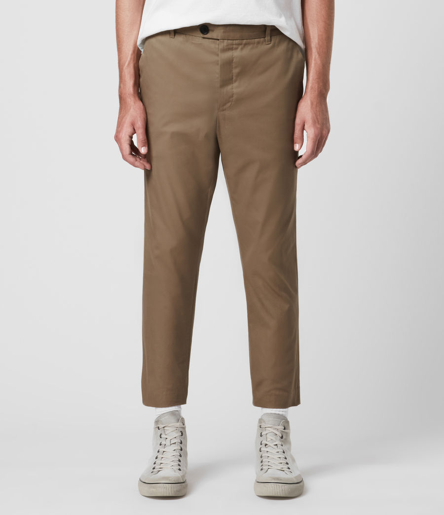 Hombres Kato Cropped Slim Trousers (wheaton_brown) - Image 1