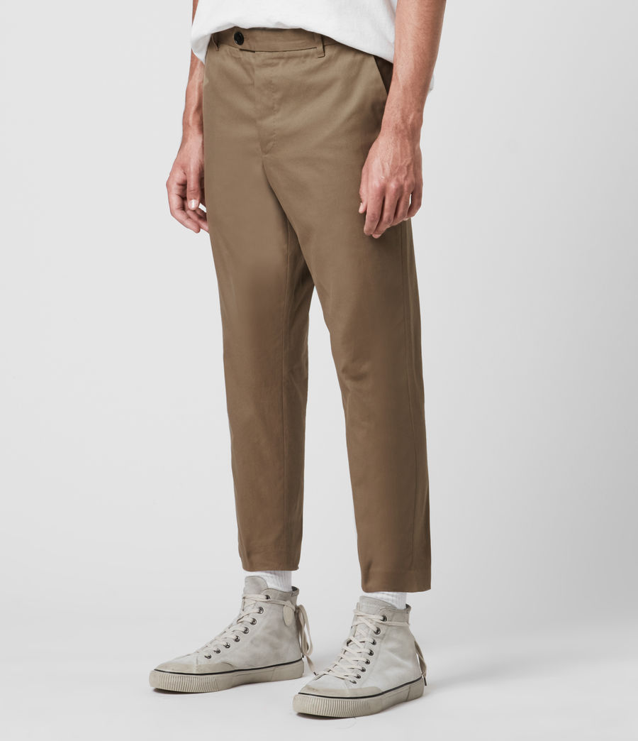 Hombres Kato Cropped Slim Trousers (wheaton_brown) - Image 3