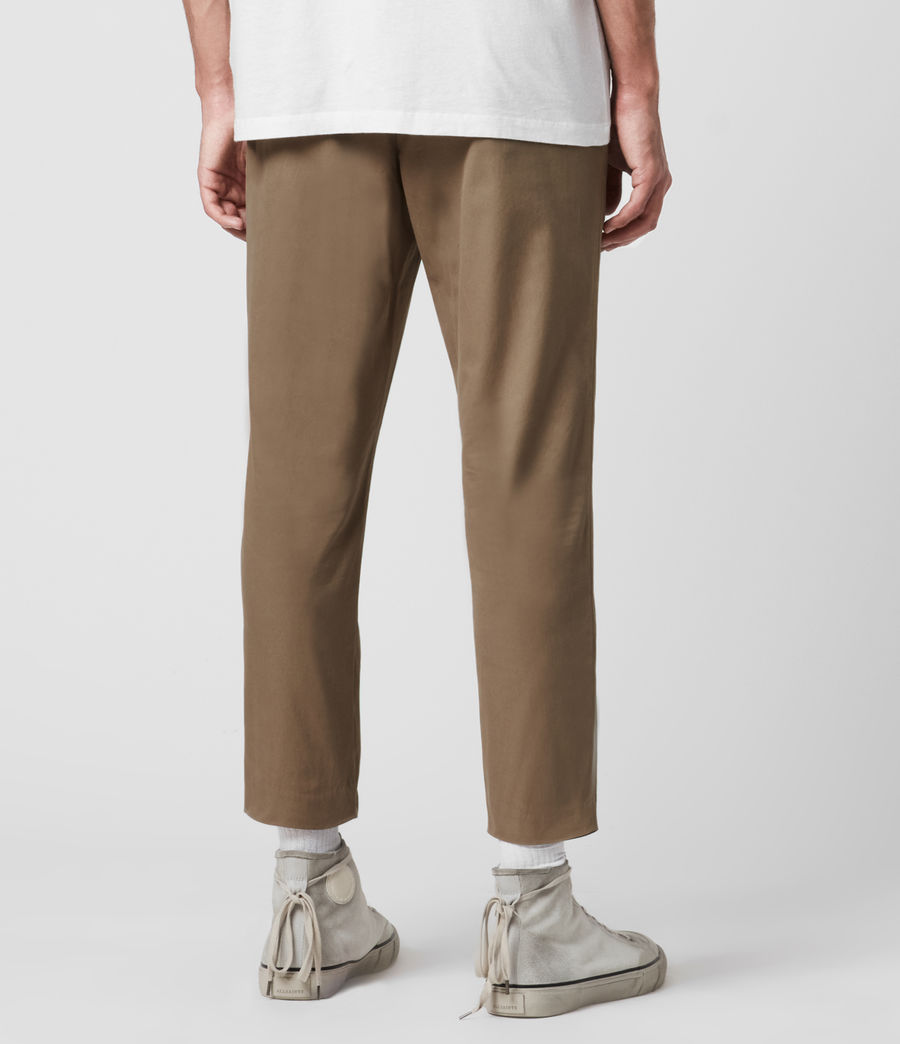 Hombres Kato Cropped Slim Trousers (wheaton_brown) - Image 5