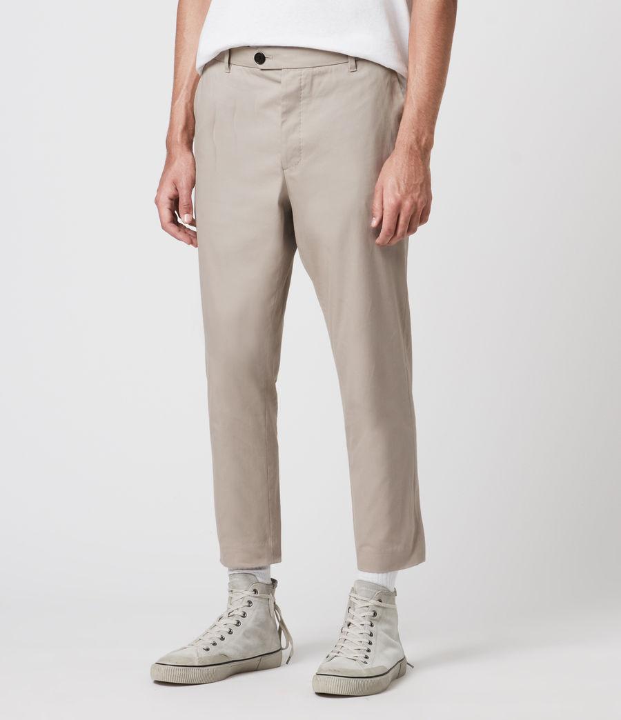 Mens Kato Cropped Slim Pants (limestone_taupe) - Image 1