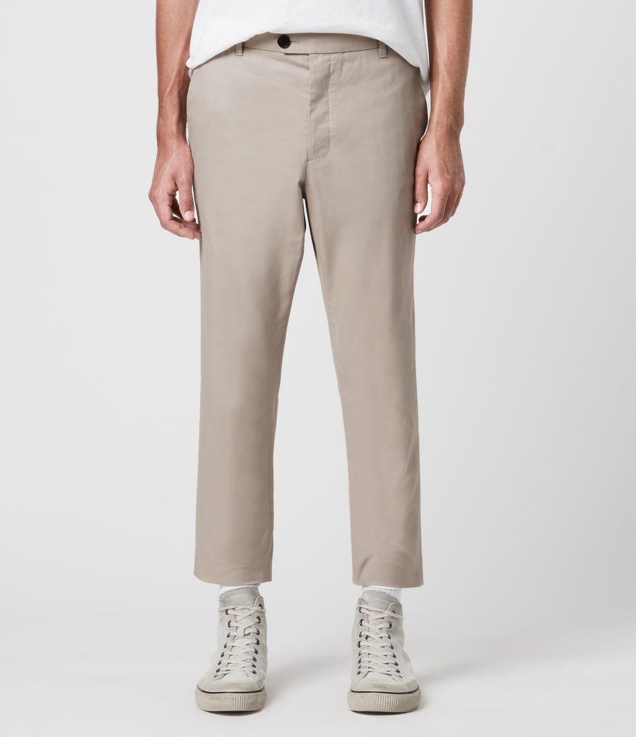 Mens Kato Cropped Slim Pants (limestone_taupe) - Image 2