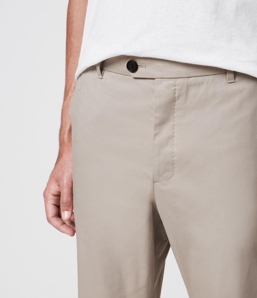 Mens Kato Cropped Slim Pants (limestone_taupe) - Image 3