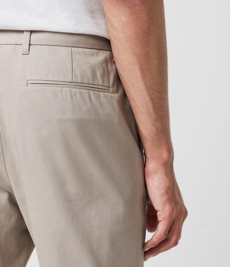 Mens Kato Cropped Slim Pants (limestone_taupe) - Image 4