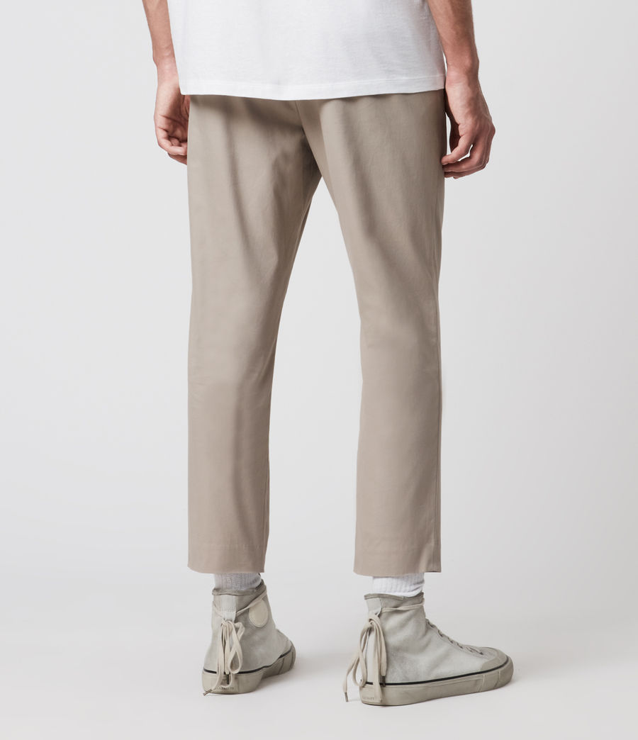 Men's Kato Cropped Slim Trousers (limestone_taupe) - Image 5