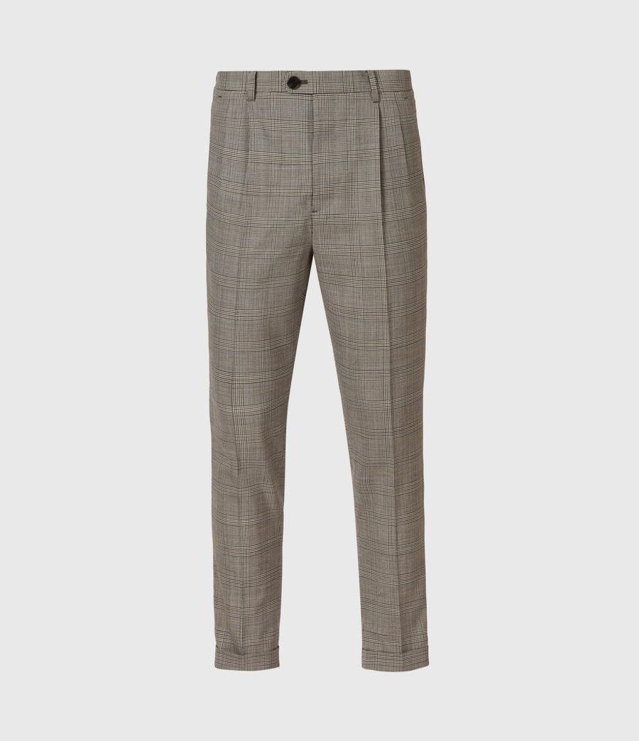 Men's Glebe Cropped Slim Trousers (grey) - Image 2