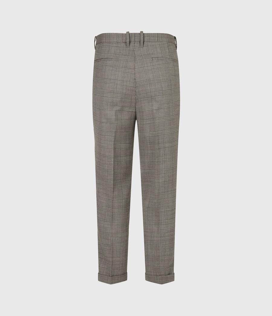 Men's Glebe Cropped Slim Trousers (grey) - Image 3