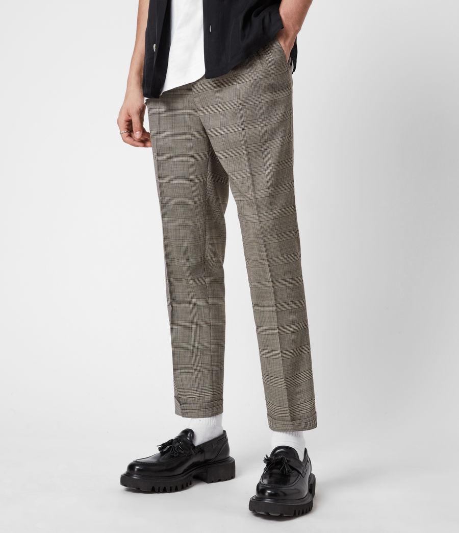 Men's Glebe Cropped Slim Trousers (grey) - Image 4