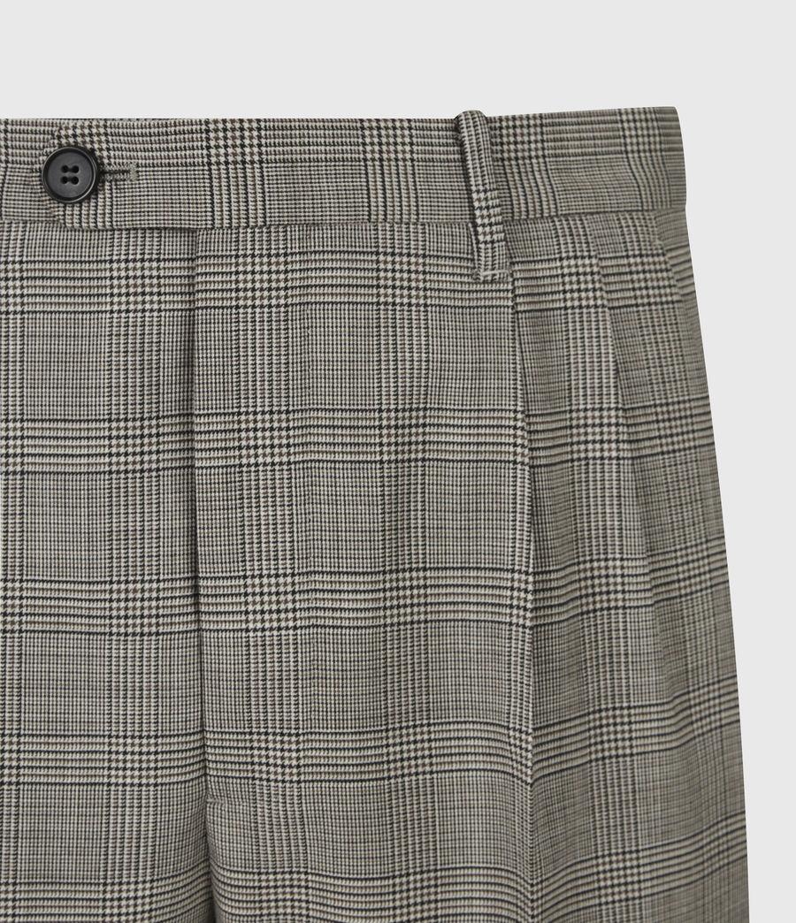 Men's Glebe Cropped Slim Trousers (grey) - Image 5