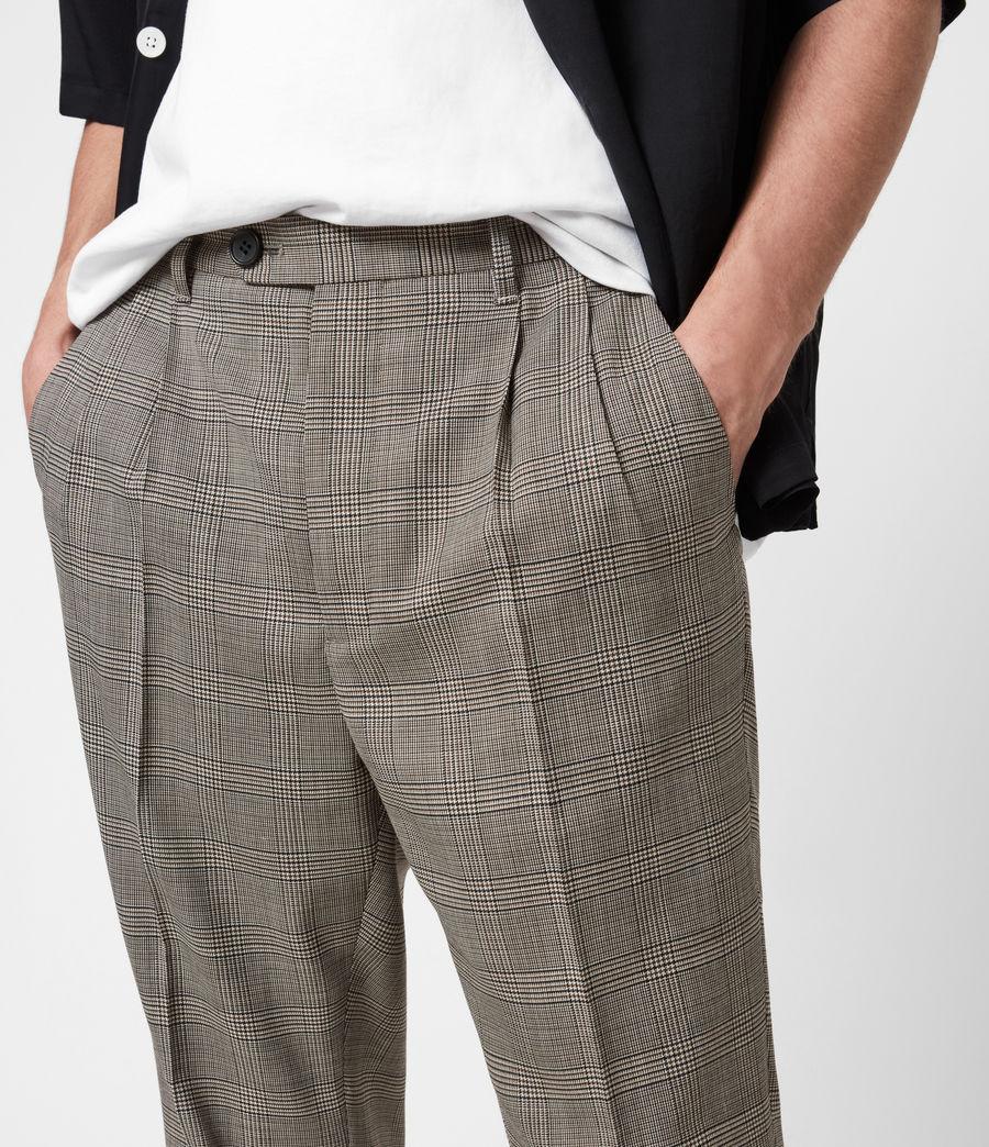 Men's Glebe Cropped Slim Trousers (grey) - Image 6