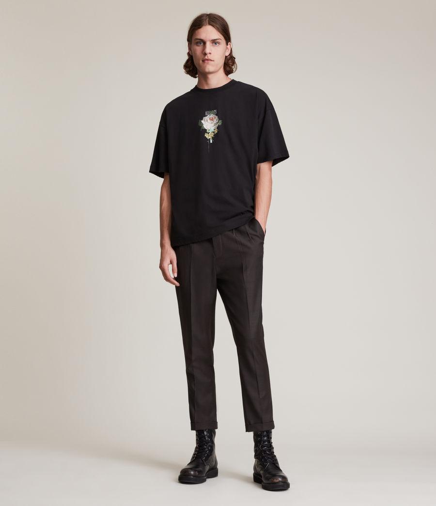 Mens Stanford Cropped Slim Pants (dark_brown) - Image 1
