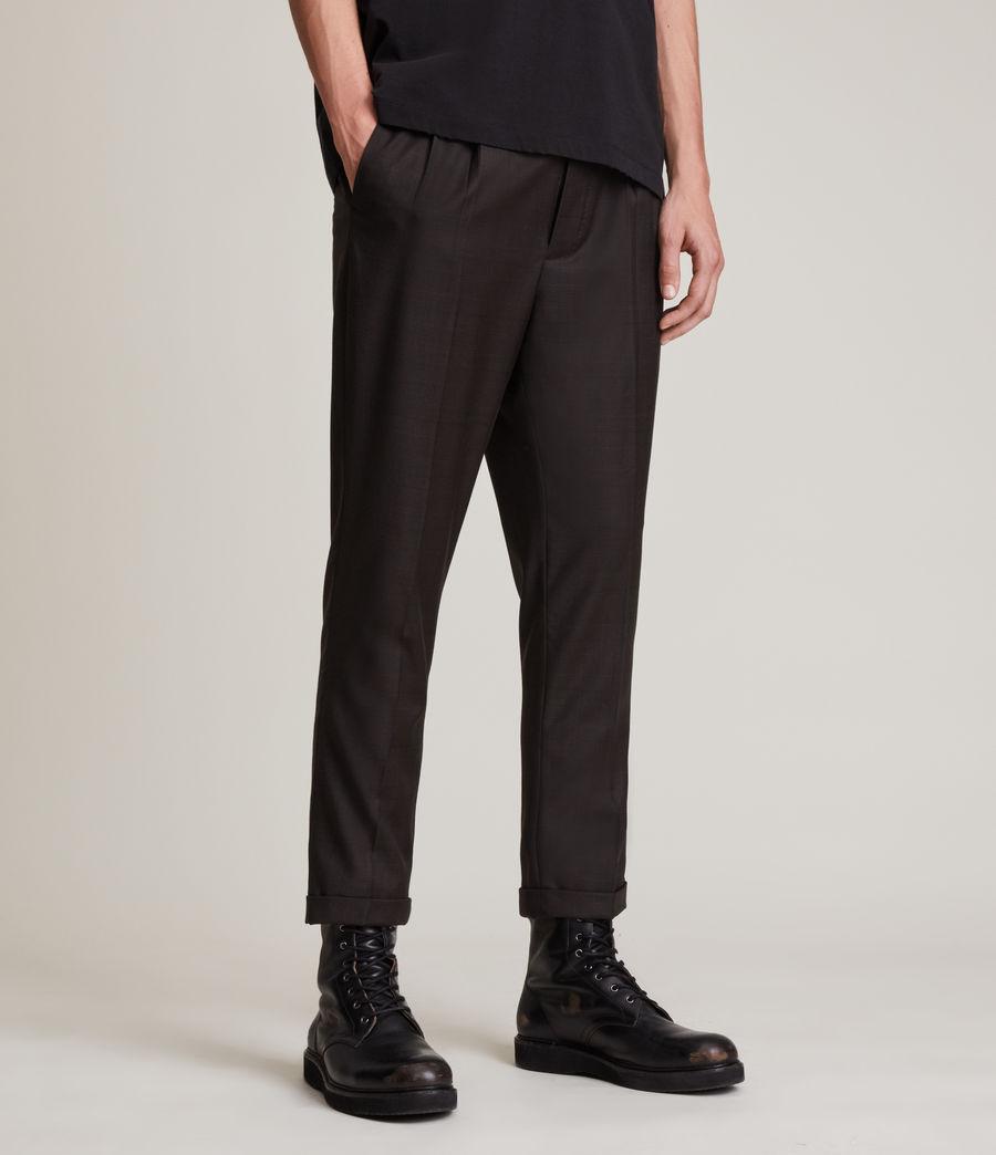 Mens Stanford Cropped Slim Pants (dark_brown) - Image 2