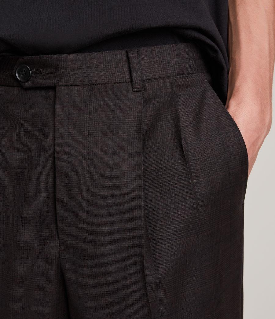 Mens Stanford Cropped Slim Pants (dark_brown) - Image 3
