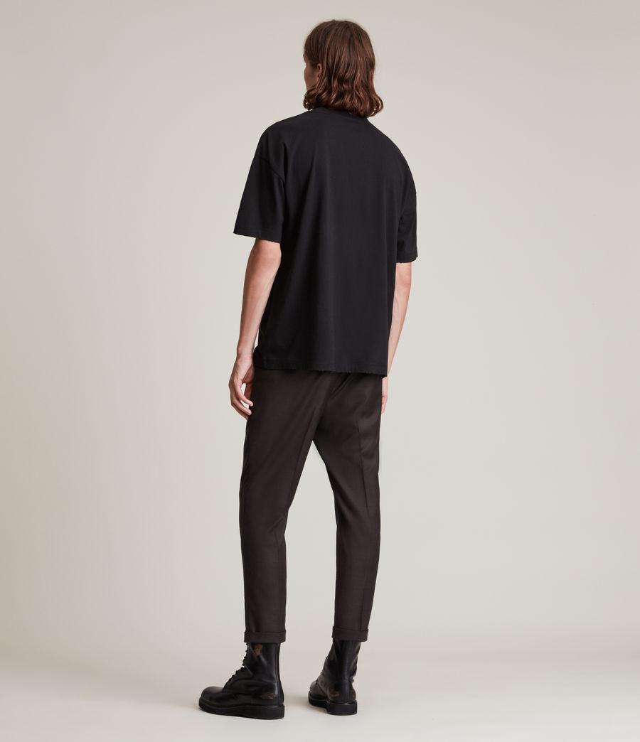 Mens Stanford Cropped Slim Pants (dark_brown) - Image 4