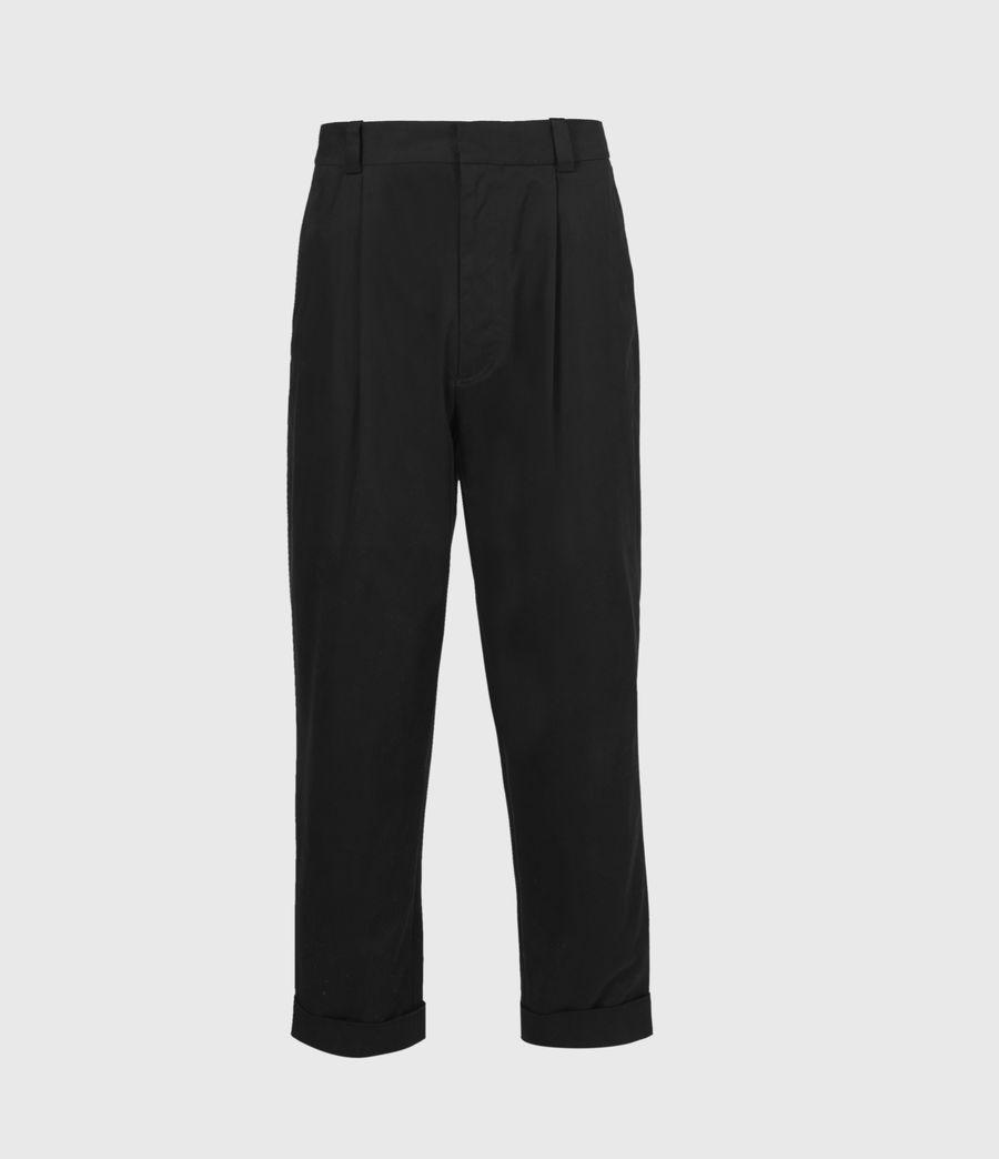 Men's Garrett Cropped Straight Trousers (black) - Image 2