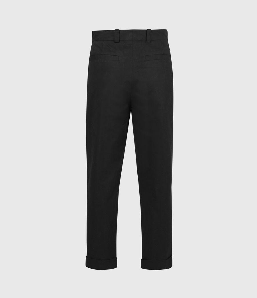 Men's Garrett Cropped Straight Trousers (black) - Image 3