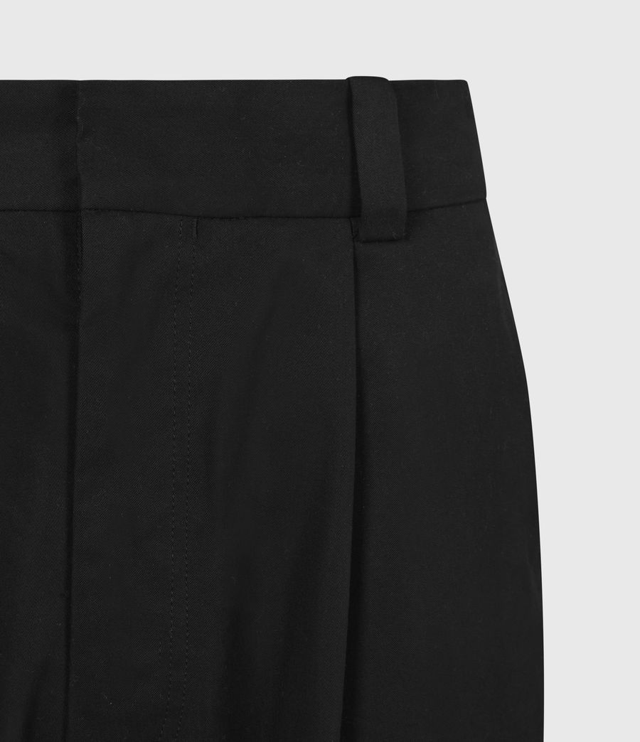 Men's Garrett Cropped Straight Trousers (black) - Image 5