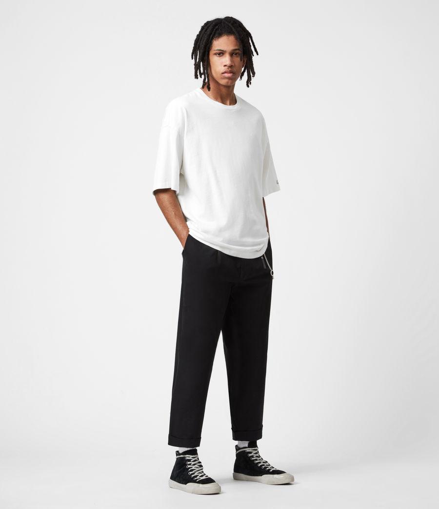 Men's Garrett Cropped Straight Trousers (black) - Image 6