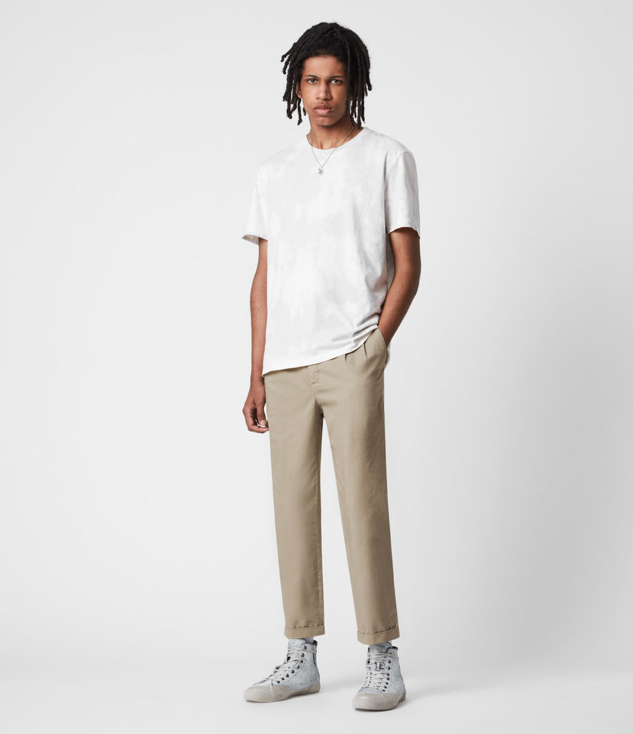 Men's Matford Cropped Straight Trousers (willow_taupe) - Image 1