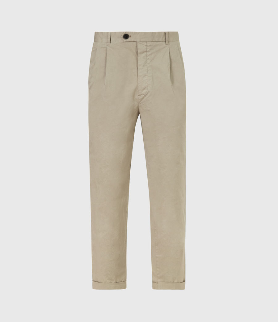 Men's Matford Cropped Straight Trousers (willow_taupe) - Image 2
