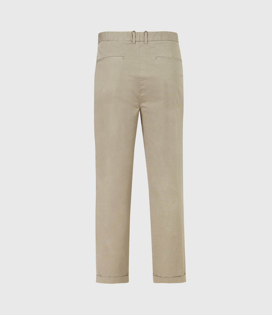 Men's Matford Cropped Straight Trousers (willow_taupe) - Image 3