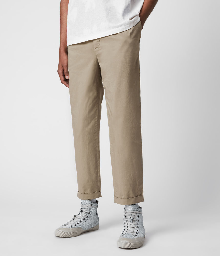 Men's Matford Cropped Straight Trousers (willow_taupe) - Image 4