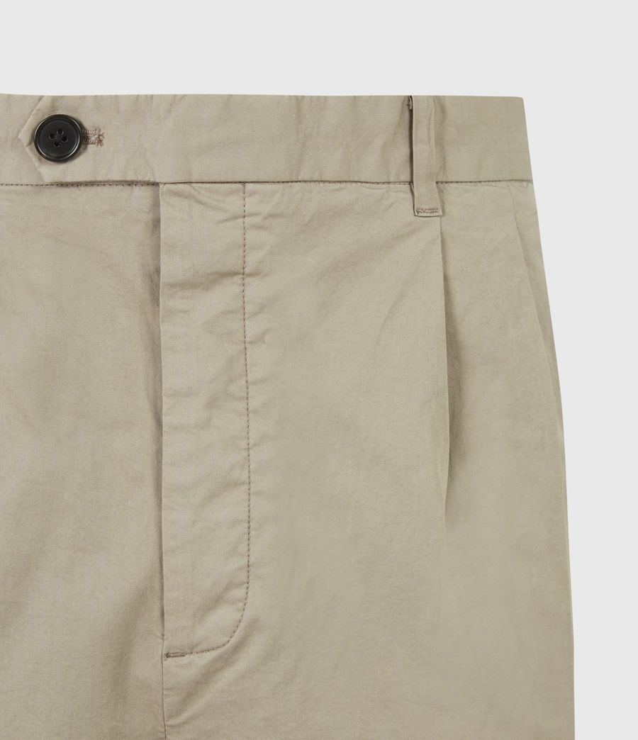Men's Matford Cropped Straight Trousers (willow_taupe) - Image 5
