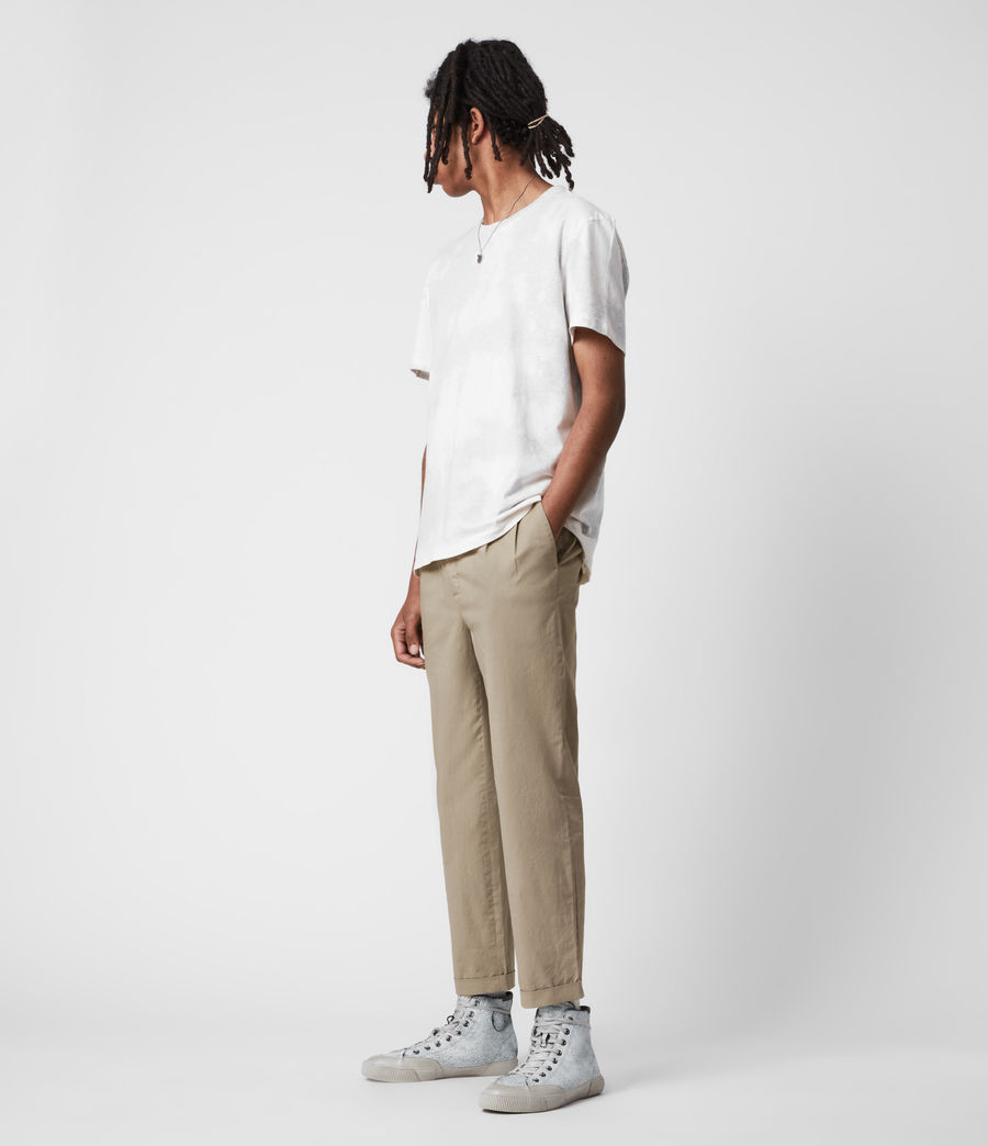 Men's Matford Cropped Straight Trousers (willow_taupe) - Image 6