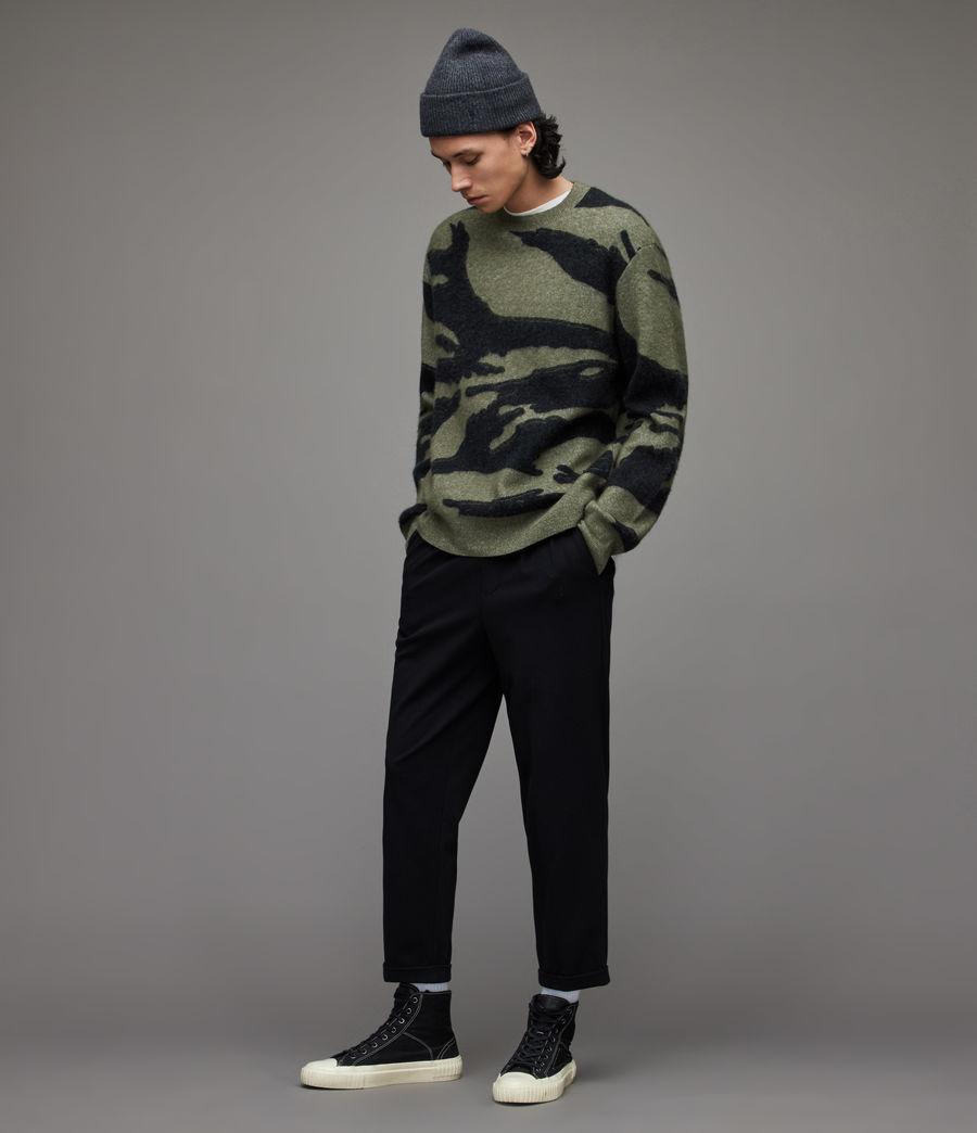 Herren Rein Cropped Slim Trousers (black) - Image 1