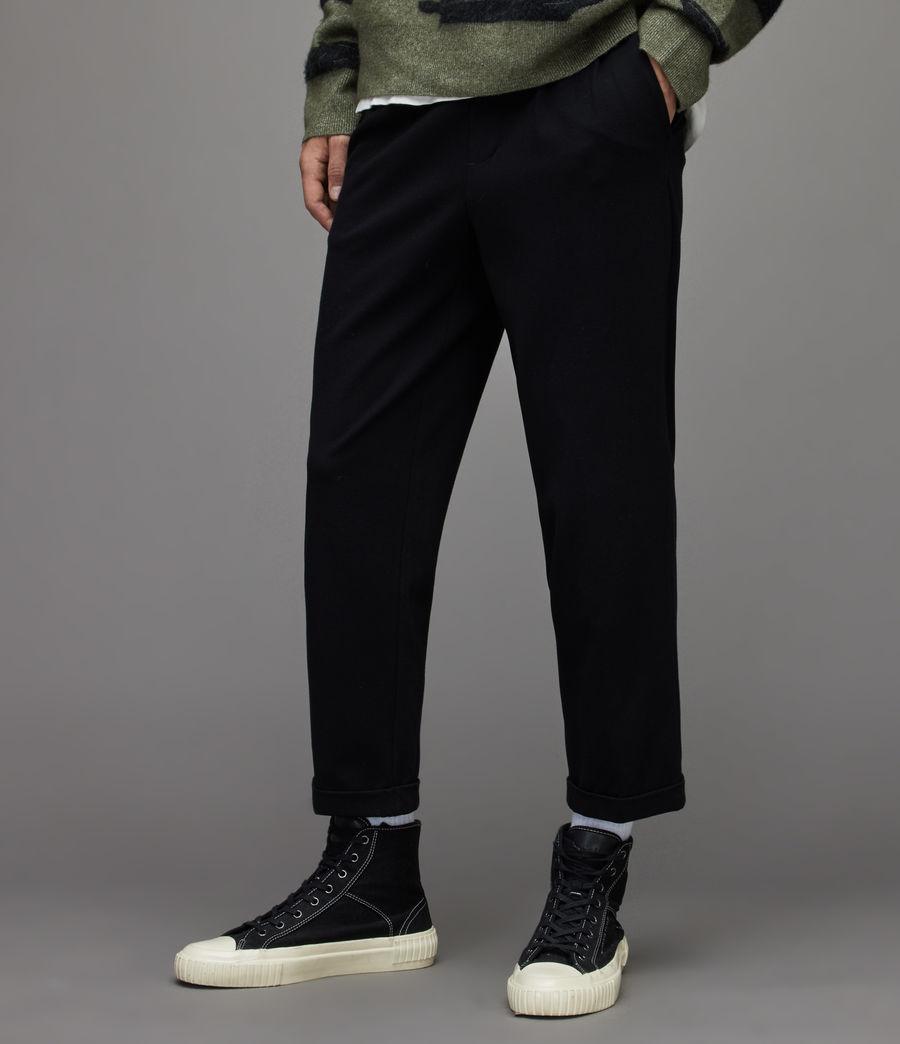 Herren Rein Cropped Slim Trousers (black) - Image 2